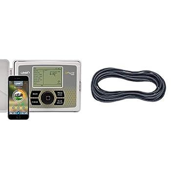Orbit B-hyve 12-Zone Smart Indoor/Outdoor Sprinkler Controller & 57088 7Strd 100  Wire Sprinklr 100 Feet