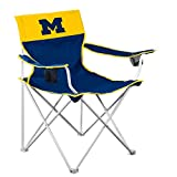 Logo Brands NCAA Michigan Wolverines Big Boy Chair, One Size, Team Color