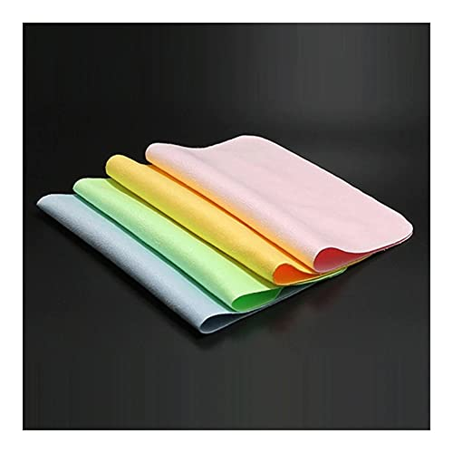 paño de limpieza 1/3/5PCS Limpiador de colores Limpia Limpia Lente Toallitas de tela para gafas de sol Laterales de microfibra Paño de limpieza para fibra de cámara Paño de limpieza de cocina,
