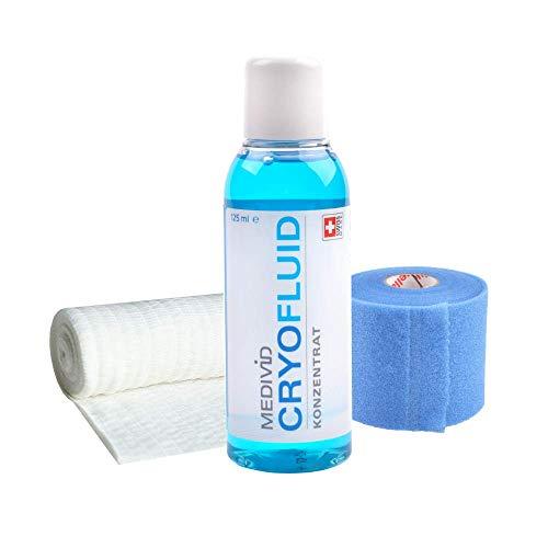MEDIVID CRYO Nachfüllset - für MEDIVID CRYO Therapieset - Kühlung von Verletzungen - mit CRYO Konzentrat (125 ml), MEDIVID Bandage, Fixierwrap - Kältetherapie mit Preisvorteil