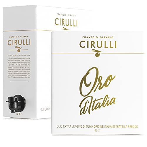 Cirulli Huile d olive extra vierge italienne extraite à froid, Bag in Box EVO (5 Litres)