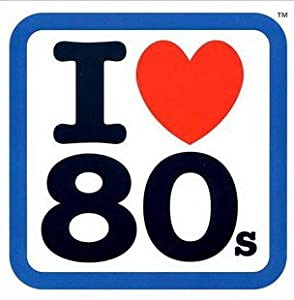 I Loveheart the 80s Sticker