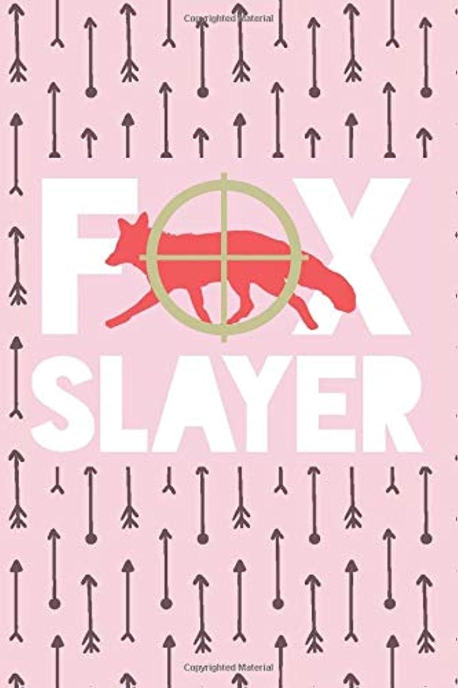 """お酢静的準拠Fox Slayer: Fox Hunting Log Book for Her – Hunting Journal – Notebook for Fox Hunter – Hunting Diary - 15.2cm x 22.9cm (6"""" x 9"""") - 100 Pages – Record your hunts"""