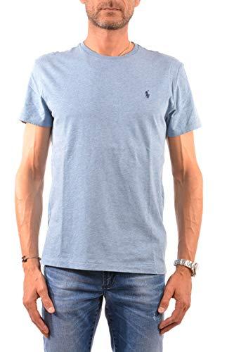 Polo Ralph Lauren Mens Classic Fit Solid Crewneck T-Shirt (X-Large, Ocean Heather)