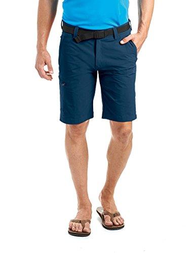 MAIER SPORTS Herren Bermuda, Outdoorhose/ Funktionshose/ Shorts inkl. Gürtel, bi-elastisch, schnelltrocknend und wasserabweisend, Blau (aviator/368), Gr. 48