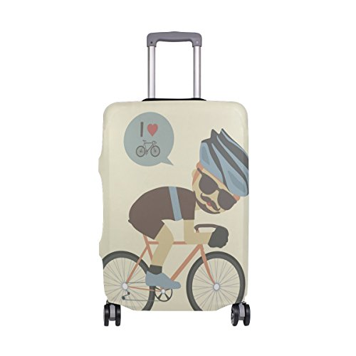 I Love - Funda para Maleta de Bicicleta (45,7 a 50,8 cm),...