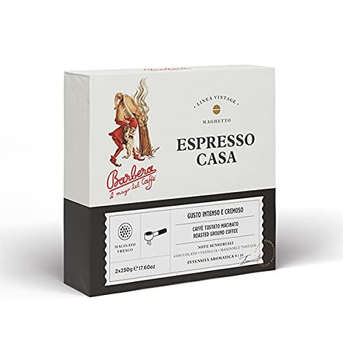 Caffè Barbera dal 1870 - Caffè Macinato - Miscela Espresso Casa - 500 Gr