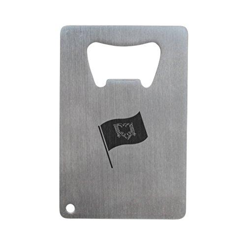 WoodenAccessoriesCompany Albanische Flagge Flaschenöffner, Edelstahl Kreditkarte Größe, Flaschenöffner für Portemonnaie, Kreditkarte Größe Flaschenöffner