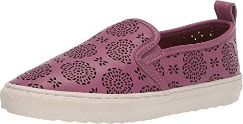 COACH C115 Slip-On Sneaker with Cut Out Tea Rose Primrose 5.5