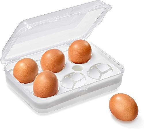 Rotho Fun Transportbox für 6 Eier, Kunststoff (PP) BPA-frei, transparent, 20,0 x 14,0 x 6,0 cm