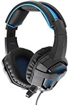 Sades SA738 Led Lighting Gaming Headset Over Ear Wired USB Headphone with 3.5mm Mic for Laptop PC MAC PS4 Gamer (Black)
