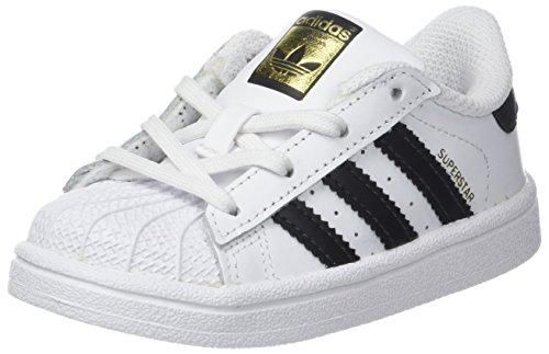 adidas Superstar I, Scarpe da Fitness Unisex-Bambini, Bianco (Footwear White/Core Black), 27 EU