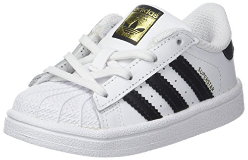 adidas Superstar I, Pantofole Unisex-Bimbi, Bianco (Footwear White/Core Black), 21 EU