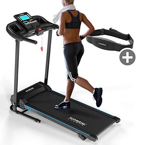Kinetic Sports KST2900FX Laufband klappbar inkl. Pulsgurt | 750 Watt Elektromotor | Extra breite 40 cm Lauffläche | 16+1 Programme | GEH- und Lauftraining | bis 10 km/h | LCD Display | bis 120 kg