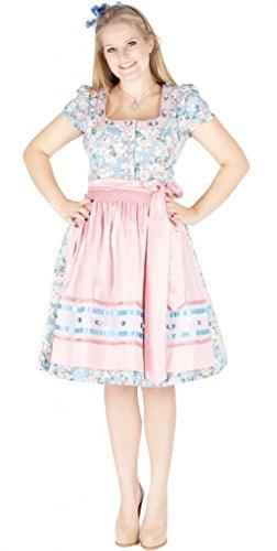 Country-Line 11989 Dirndl 70er hellblau rosa mit Arm Size 42