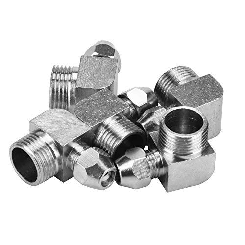 5pcs 90 grados macho rosca manguera de aire adaptador rápido conector acoplador conjunto accesorios neumáticos (3/8' 6mm)