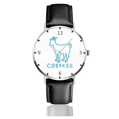 Watches Reloj de Pulsera Analógico Monoaguja de Cuarzo para Hombre Reloj para Hombre de Cuarzo Ovejas Erika Costell con Correa en Cuero