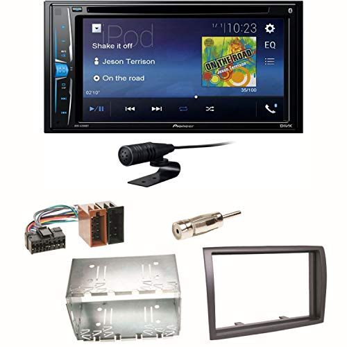 Pioneer AVH-A210BT USB Autoradio Touchscreen Bluetooth Moniceiver Autoradio CD DVD MP3 Freisprecheinrichtung WAV AUX AAC DivX Einbauset für FIAT Ducato Boxer Jumper