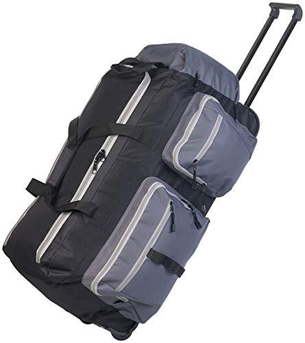 Xcase Rolltasche: Faltbare XL-Reisetasche mit Trolley-Funktion & Teleskop-Griff, 72 l (Reisegepäck)