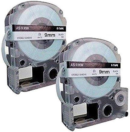 10 Kassetten LC-3YBW LC-3YBW9 SC9YW schwarz auf gelb 9mm x 8m Schriftband kompatibel f/ür Epson LabelWorks LW-300 LW-300L LW-400 LW-500 LW-600P LW-700 LW-900P LW-1000P Beschriftungsger/ät