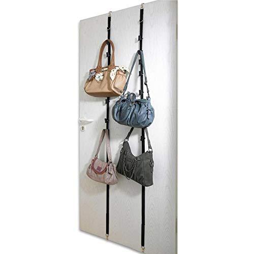 WENKO Taschengarderobe, 2er Set, für 8 Taschen Garderobe Taschen Türhängeregal