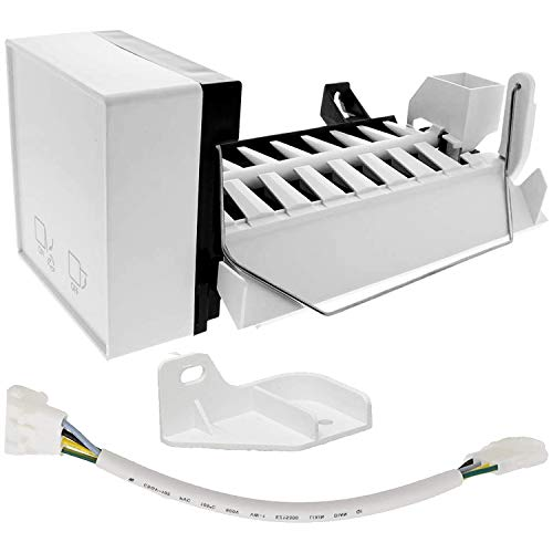 2198597 Ice Maker (8 Cube) with Harness by PartsBroz - Compatible with Whirlpool Refrigerators - Replaces Part Numbers 1016069, 2198678, 626663, AH869316, EA869316, PS869316, W10122502, W10190960