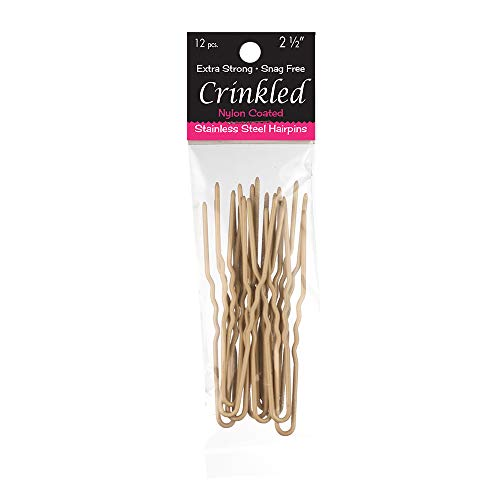 Marilyn Fayes U-Shaped Crinkled Hair Pins (Set of 12) (2.5 inch, Blonde)