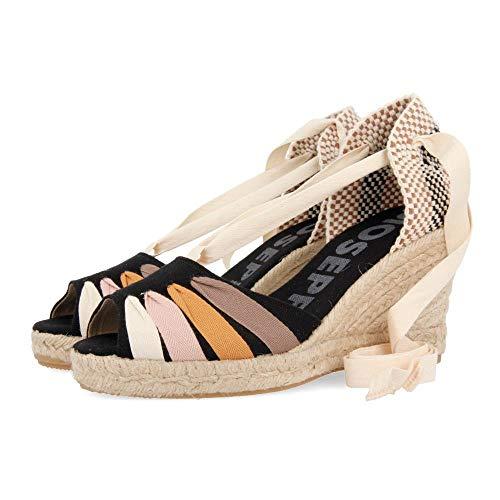 Gioseppo BAKEWEL, Zapatos de tacón con Punta Abierta para Mujer, Negro (Negro Negro), 36 EU