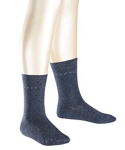 ESPRIT Kinder Socken Foot Logo - 80% Baumwolle, 2 Paar, Blau (Navy Blue Melange 6490), Größe: 35-38