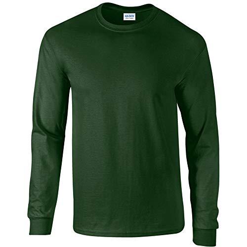 Gildan Ultra T-Shirt mit Rundausschnitt für Männer (XL) (Waldgrün) XL,Waldgrün