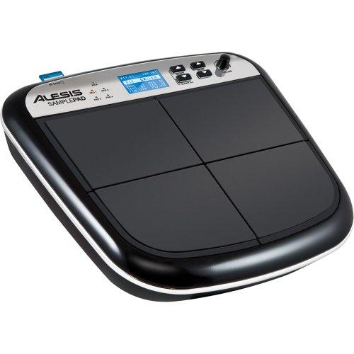Alesis Sample Pad - MultiPad Instrument und SD cards Player mit 4 anschlagdynamische Drumpads