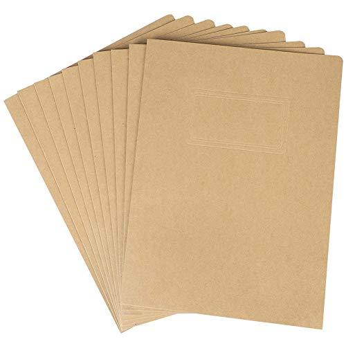 10PCS A4 Papel Kraft Archivo Holeder Carpeta de documentos de presentación Carpeta de archivos de proyecto Carpetas de presentación estacionarias de oficina Informes de contratos