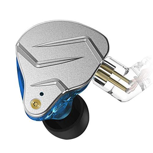 KZ ZSN Pro Auriculares DE Alta FIDELIDAD Tecnología híbrida Profesional dinámica Auricular(azul sin micrófono) en la Oreja