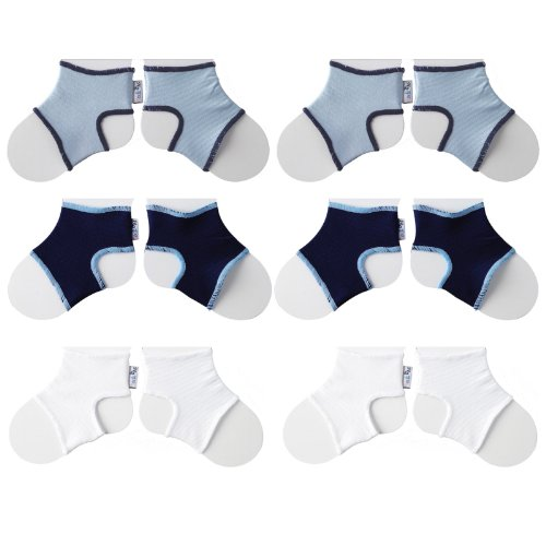 Sock Ons Clever Little Things That Keep Baby Socks On! 6 Pack, Large, Boys (6-12 Months) by Sock Ons