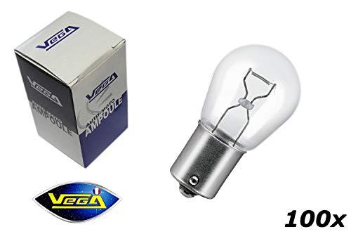 VEGA 100 Ampoules P21W 1156 BA15S Maxi halogène 12V
