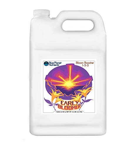 Early Bloomer Bloom Booster (128 oz) Gallon from Blue Planet Nutrients   Increase Flower Buds & Blooms   Hydroponic Aeroponic Soil Coco Coir   for All Plants & Gardens