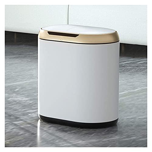 Cubo de Basura, Moderno, Inteligente, Impermeable, Cubo de Basura eléctrico Simple con Tapa, Bote de Basura de inducción de 10 l, hogar, la Cocina y la Oficina, Cubo de basu