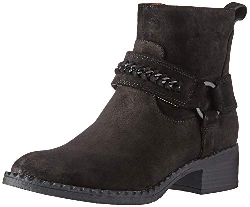 Gentle Souls by Kenneth Cole Women's Best Chain Bootie Ankle Boot, Black, 8 Medium US