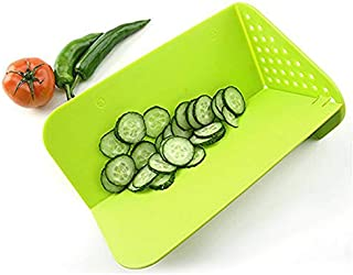 Foldable Multi-Function Cutting Boards for Kitchen, Vegetable and Fruit Chopping, Cutting, Rinsing and Folding Board, Cutting Boards for Kitchen Dishwasher Safe, Best Chopping Board by Dvcline