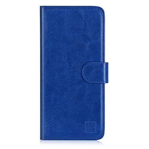 32nd PU Leder Mappen Hülle Flip Hülle Cover für Nokia 7.2 (2019), Ledertasche hüllen mit Magnetverschluss & Kartensteckplatz - Blau
