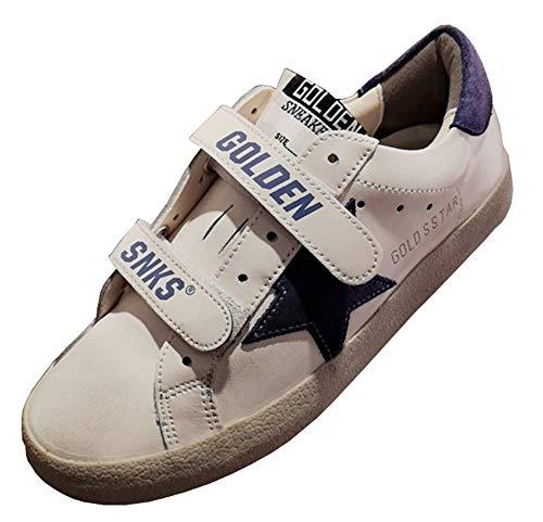 Golden Goose Zapatillas de deporte con velcro para hombre, color Morado, talla 44 EU