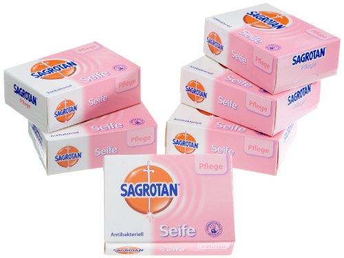 Sagrotan Pflege Festseife antibakteriell, 6er Pack (6 x 100 g)