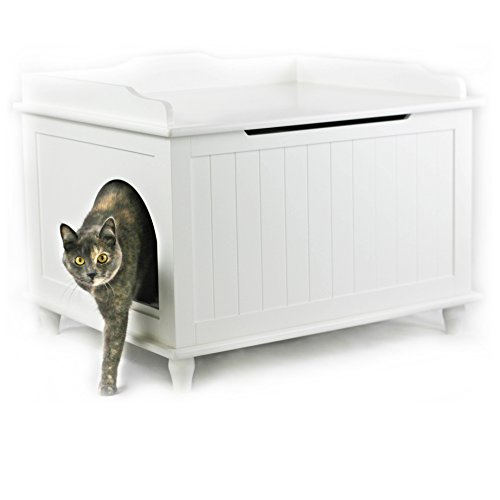 Designer Catbox Jumbo Litter Box Enclosure in White