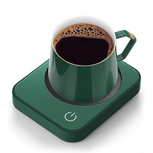 Mug Warmer for Desk, Coffee Mug Warmer with Auto Shut Off, ANBANGLIN Coffee Warmer for Coffee Milk Tea, Candle Wax Cup Warmer Heating Plate (Green-NO MUG)