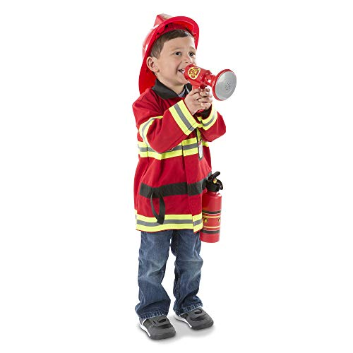Melissa & Doug Fire Chief Role Play Costume Set (Frustration-Free Packaging)