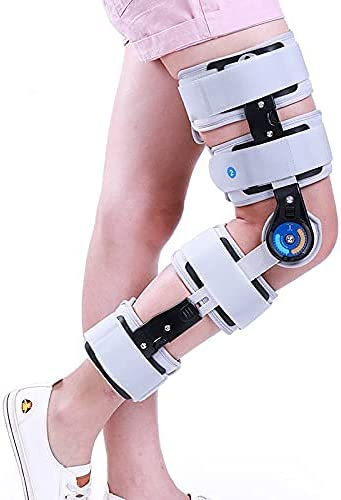 XBSXP Rodillera Ajustable con bisagras, estabilizador de Soporte ortopédico para LCA/ligamentos/Lesiones Deportivas Que Ayuda a estabilizar la Rodilla - Tamaño de Pierna Universal
