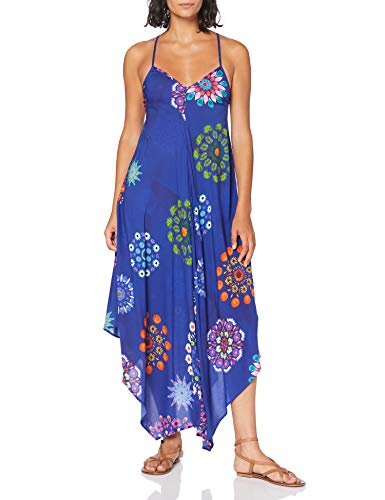 Desigual Vest_Bondi Vestido, Azul (Turkish Sea 5114), Small para Mujer