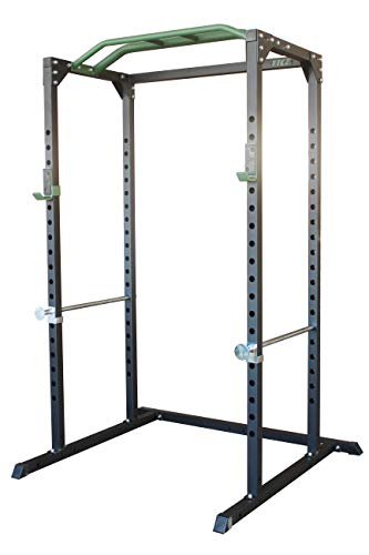 POWERT Power Rack Cage 2'x2' Gauge Heavy Duty for Barbell Crossfit & Weightlifting Training—1100 lbs Capacity
