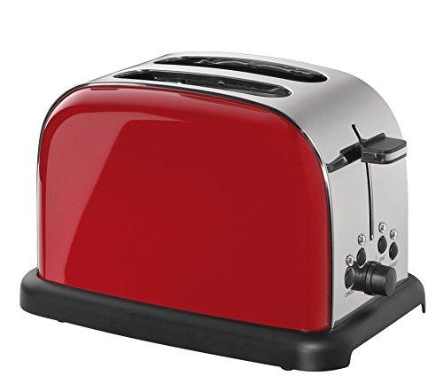 Cilio Toaster, Edelstahl, rot, 32 x 23 x 21 cm