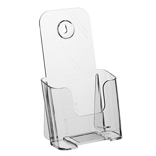DIN Lang (99x210mm) Prospekthalter / Prospektständer / Flyerhalter / Flyerständer im Hochformat transparent